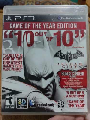 Juego Ps3 Batman: Arkham City, Usado, Envio Gratis