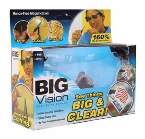 Lentes De Aumento Big Vision Con Caja Tv Zoom 160 %