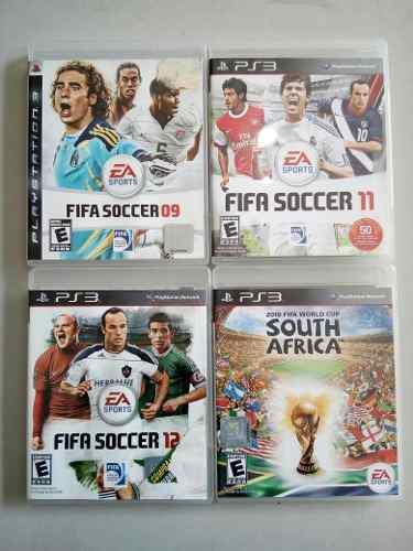 Lote De 4 Juegos Fifa Para Ps3