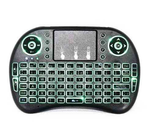 Mini Teclado Touchpad Mouse Inalambrico Tv Box Recargable Ñ