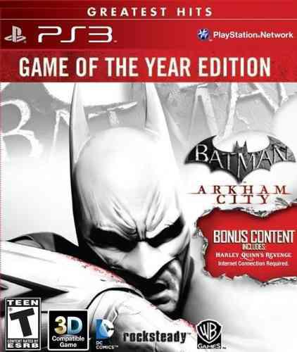 Playstation 3 Batman Arkham City Game Of The Year Edition