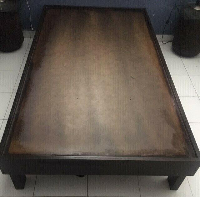 Vendo base de madera para cama individual