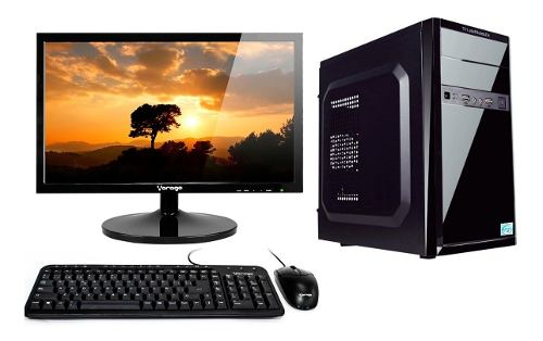 Pc Escritorio Completa Intel Dual Core 4gb 500gb Wifi Led16