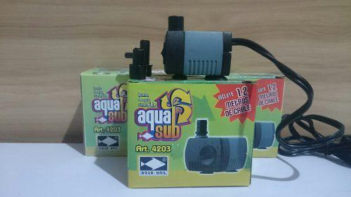 Bomba De Agua Sumergible 280l/h 0.70m Peces Pecera