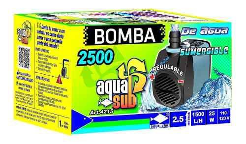Bomba De Agua Sumergible Acuario Fuente Muro 2.5m 4215