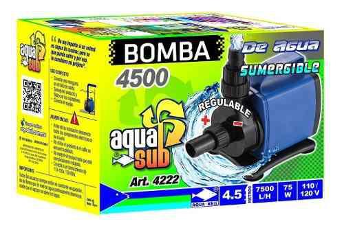 Bomba De Agua Sumergible Pecera 4.5m Estanque Fuente 4222