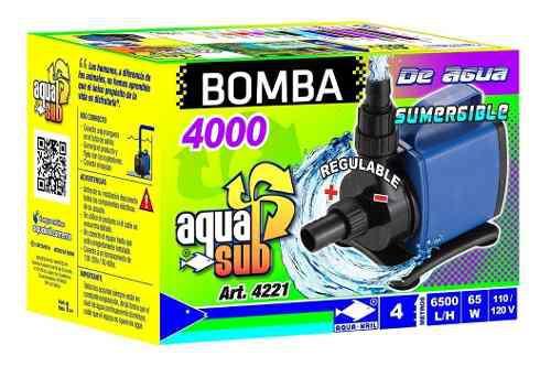 Bomba De Agua Sumergible Pecera Fuente Estanque 4m 4221