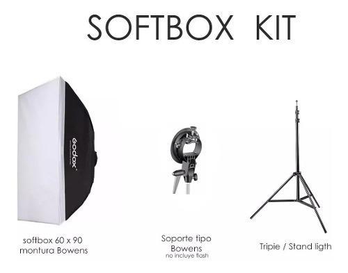 Caja De Luz / Softbox 60 X 90 Godox + Tripie + S/bowens
