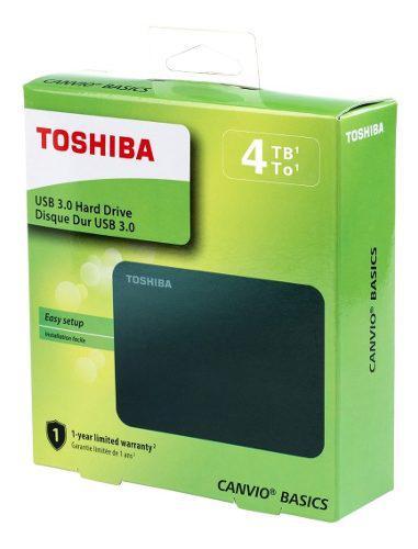 Disco Duro Externo 4tb Portatil Canvio Basic 2.5 Toshiba