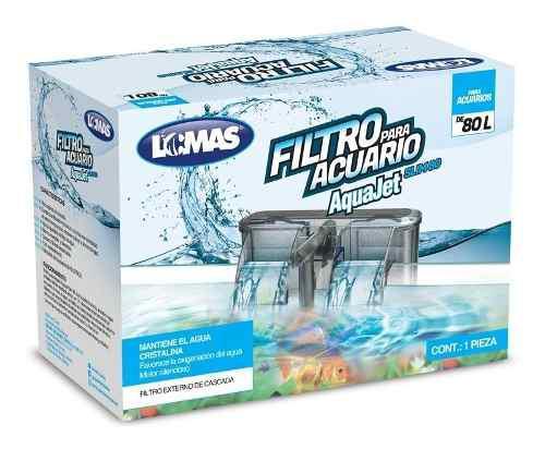 Filtro Aquajet Slim80 Cascada Acuarios Peceras 480l/h