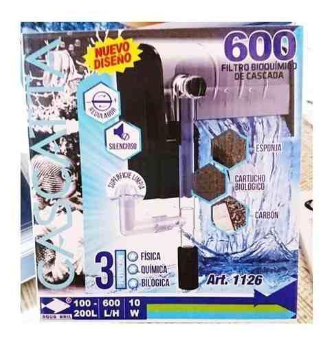 Filtro Cascada 100 A 200litros Peces Pecera Agua Dulce/salad