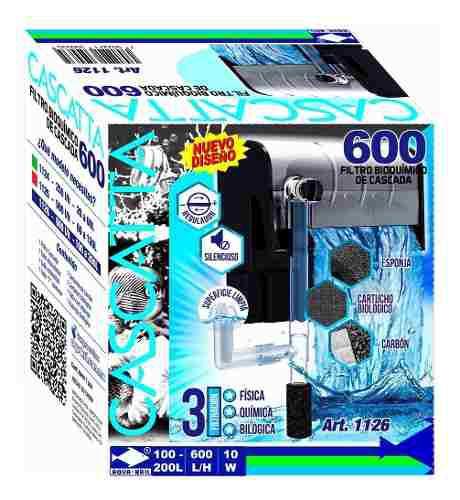 Filtro Externo Cascada Pecera Acuario 600 L/h 200 L 1126