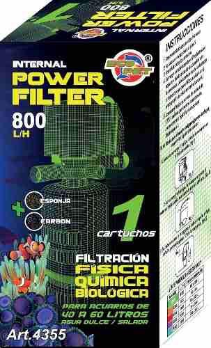 Filtro Interno Acuario Pecera 40-60 800 L/h 4355