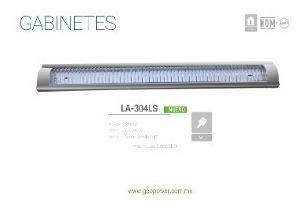 Gabinete Gris Con Reja Y Focos Led 36w Incluidos T8 La304ls
