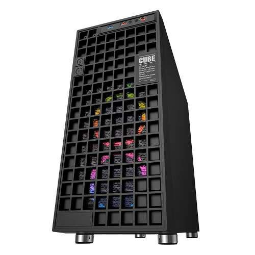 Gabinete Pc Gamer Eagle Warrior Cube Panel Led Acrílico Atx