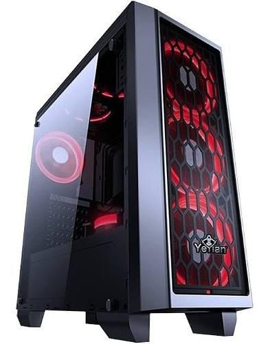 Gabinete Yeyian Gaming Blade 2101 Ventilador Led Rojo Usb3