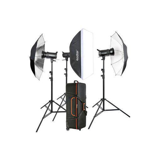 Godox Kit De Iluminacion De Estudio Sk400ii-d Tres Cabezas
