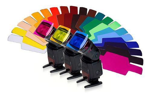 Kit 12 Geles Filtros De Colores Para Flash