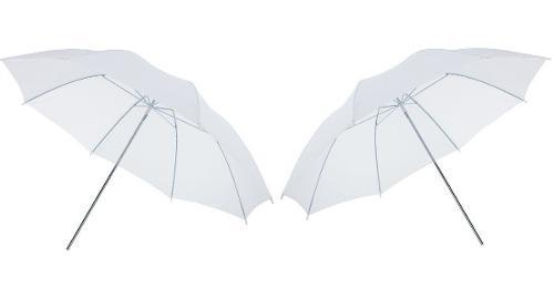 Kit 2 Sombrillas Blancas Para Estudio De Fotografía 83cm