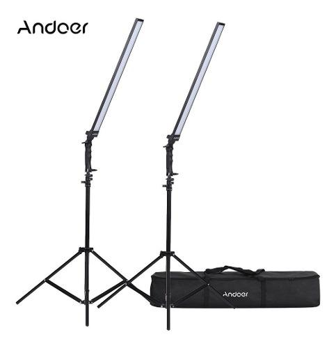 Kit De Iluminación Led Andoer Para Estudio, Dimerizable