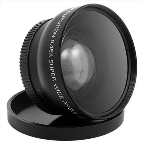 Lente 2 En 1 Gran Angular Y Macro 58mm Para Canon.45x