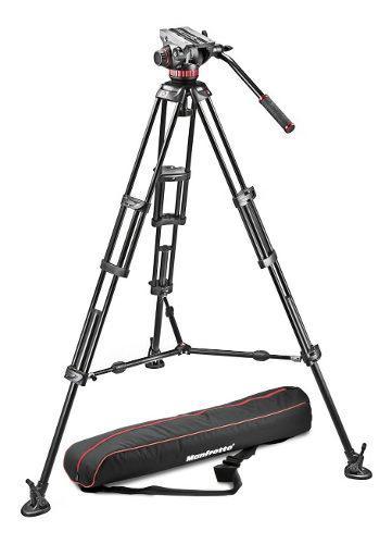 Manfrotto Mvh502a,546bk-1 Tripie Para Video Con Cabeza P/7kg