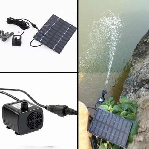 Mini Bomba De Agua Panel Placa Solar Fuente Estanque 7v Xto