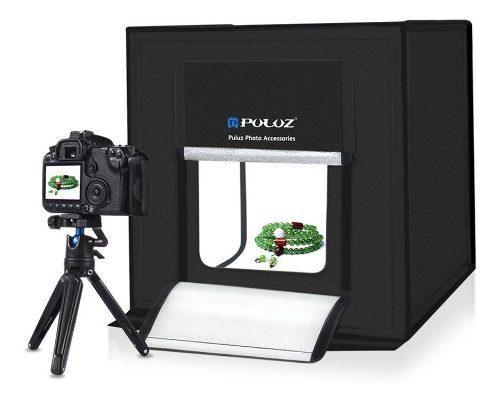 Mini Set Fotografico Portatil Foto Estudio 40cm + 3 Fondos