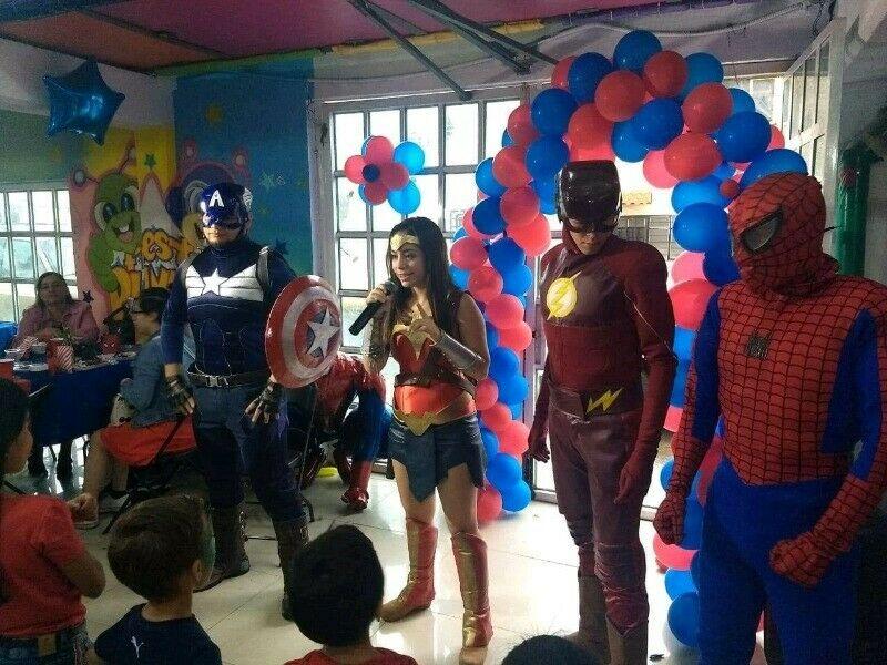 show de superhéroes, super héroes en puebla