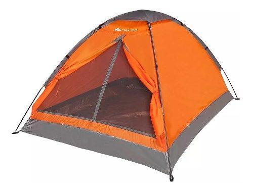 Casa De Campaña Para Acampar Para Dos Personas Anaranjada