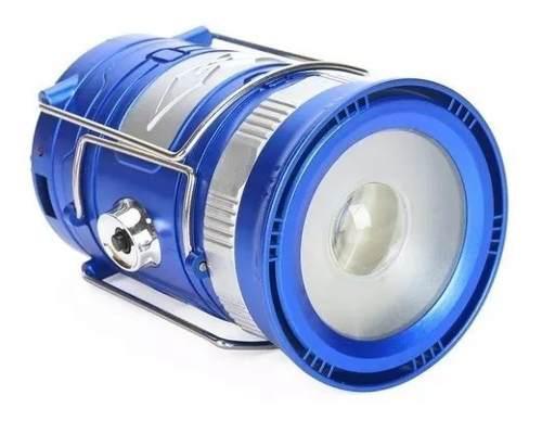 Lampara Linterna Campamento Con Zoom Recargable Solar Y Usb