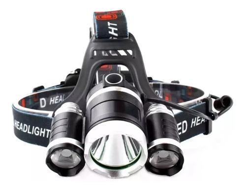 Lampara Minera 5000 Lumens 3 Cree Led T6 Recargable