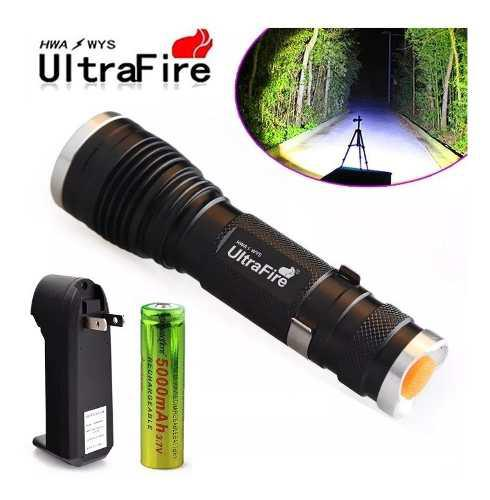 Lampara Tactica 8000 Lumens Ultrafire Recargable Zoom Led