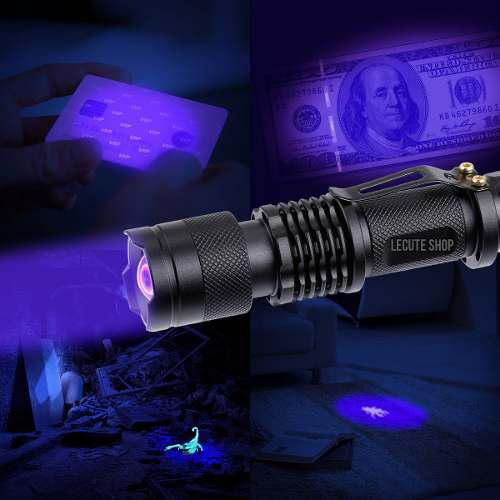 Lampara Tactica Uv Luz Negra 1200 Lumens Cree Led Recargable