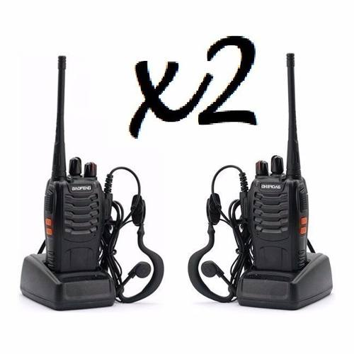 Set 2 Radios Baofeng Bf-888s Walkie Talkie Facturamos