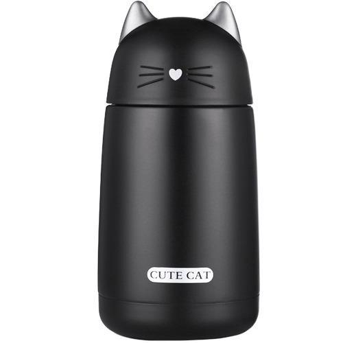 Termo Taza En Forma De Gato Gatito Color Negro H3247