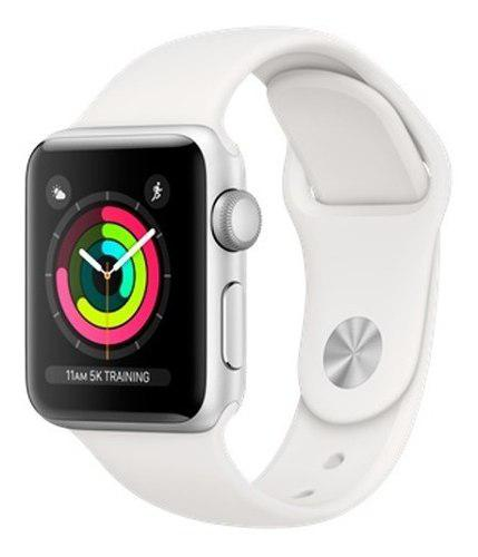 Apple Watch Series 3 / Silver White / Sport Band