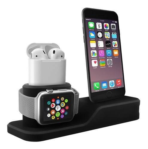 Base De Carga Para iPhone/ Apple Watch/AirPods, Negro