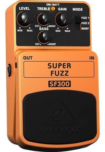 Behringer Sf-300 Super Fuzz Pedal Para Guitarra Eléctrica