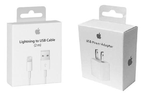 Cable 2m Y Cargador Original iPhone 5 6 7 8 X Envio Gratis