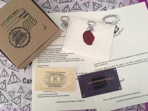 Carta De Hogwarts Harry Potter Boleto Dorado Y Noctámbulo