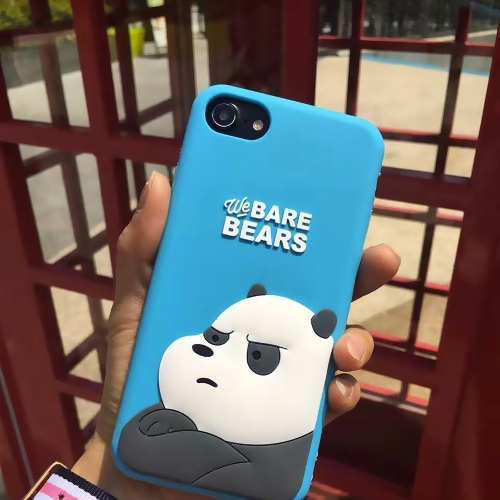 Case Funda iPhone 6 6s 7 8 Plus Osos Escandalosos Bare Bears