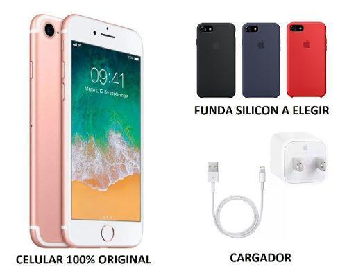 Celular Apple iPhone 7 32gb Orig Cargador Funda Envio Gratis