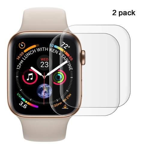 Combo 2 Micas Protectoras De Tpu Para Apple Watch Serie 4