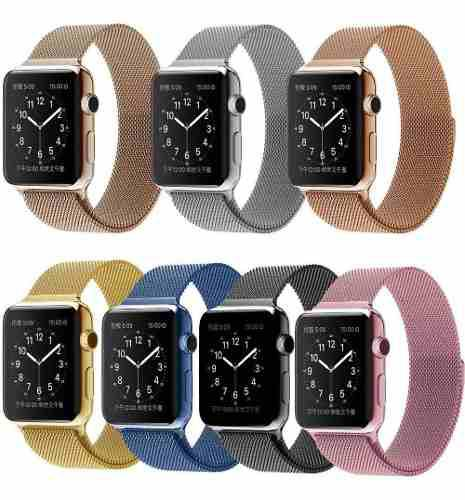 Correa Apple Watch Acero Milanese Inoxidable Serie 1 2 3 4