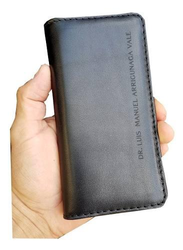 Funda Cartera De Piel Genuina Personalizada Para iPhone