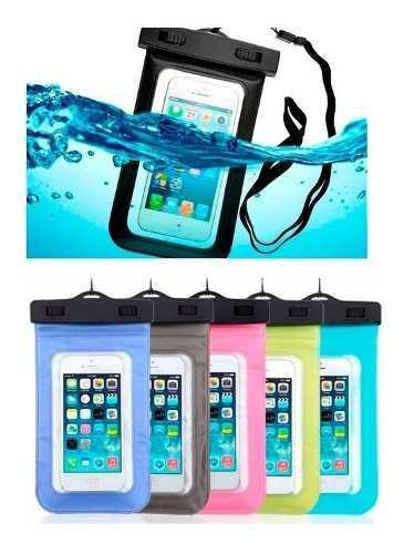 Funda Contra Agua Universal iPhone Galaxy Sumergible Colore