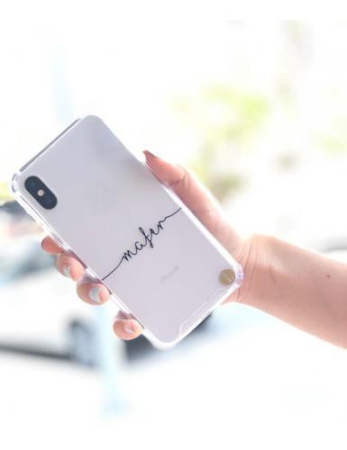 Funda Transparente Con Nombre Personalizado iPhone Samsung