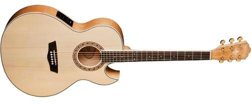 Guitarra Electroacústica Thin Jumbo Cutaway Washburn