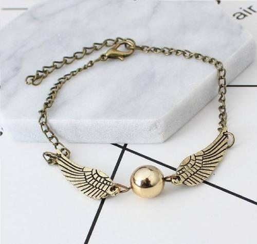 Harry Potter Snitch Pulsera Dorada Golden Snitch Quidditch